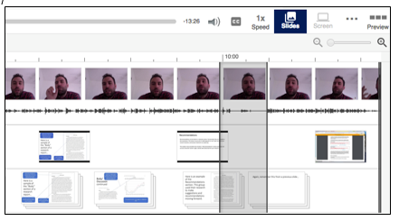 panopto's editing tool