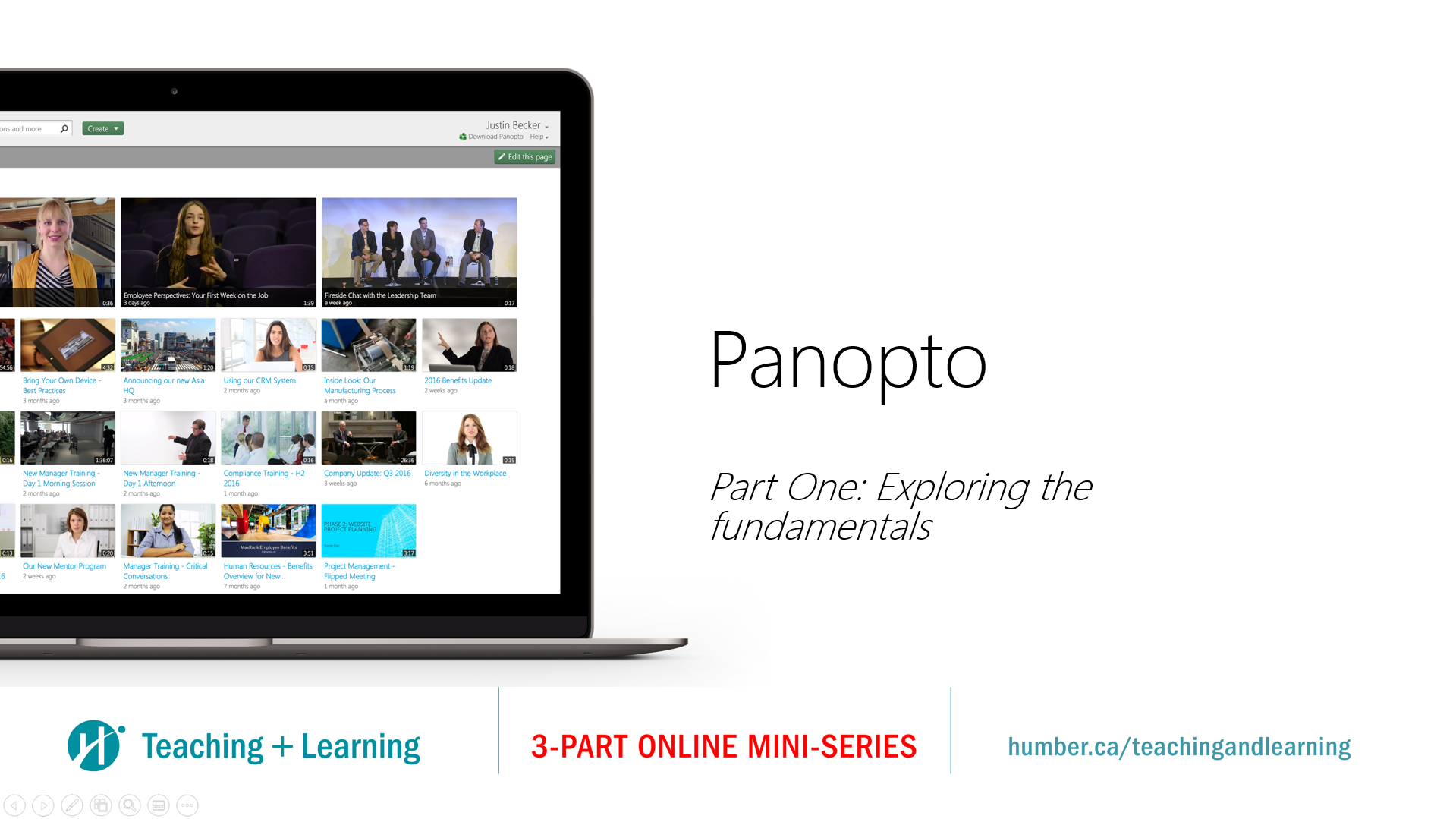 Panopto Part One: Exploring the fundamentals